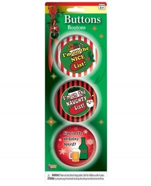 Christmas Funny Buttons - Set of 3