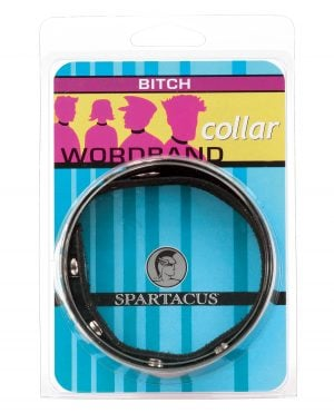 Spartacus Bitch Collar Word Collar