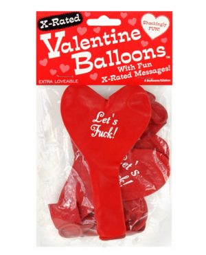 X-Rated Valentine Heart Balloons - 8 Per Pack
