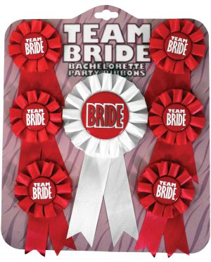 Team Bride Ribbons - Pack of 7