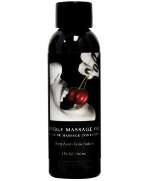 Earthly Body Edible Massage Oil - 2 oz Cherry