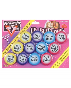 Bachelorette I.D. Buttons - Pack of 12