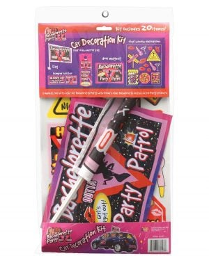 Bachelorette Party Car Decoration Kit - Includes 20 pieces