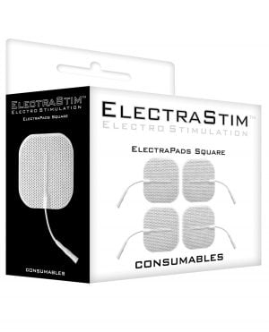 ElectraStim Accessory - Square Self Adhesive Pads (Pack of 4)