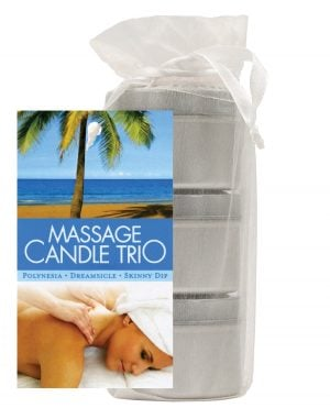 Earthly Body Massage Candle Trio Gift Bag - 2 oz Skinny Dip