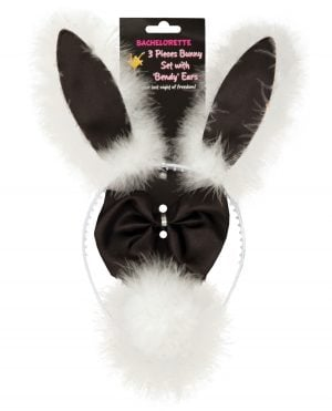 Bachelorette 3 pc Bunny Set w/Bendy Ears