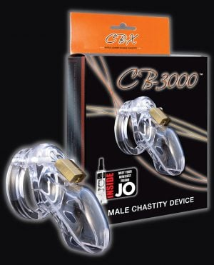 "CB-3000 3"" Cock Cage & Lock Set - Clear"