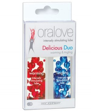 Oralove Delicious Duo Flavored Lube - Warming & Tingling