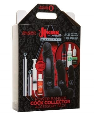 Kink Fucking Machines Power Banger Cock Collector Accessory Pack - 8 pc Kit