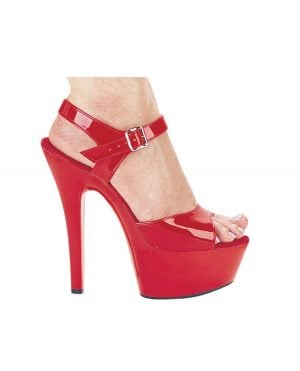 "Ellie Shoes Juliet 6"" Pump w/2"" Platform Red Seven"
