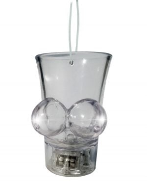Light Up Boobie Shot Glass Hang String