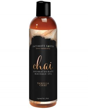 Intimate Earth Chai Massage Oil - 240 ml Vanilla & Chai
