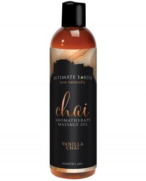Intimate Earth Chai Massage Oil - 120 ml Vanilla & Chai