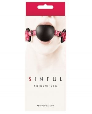 Sinful Soft Silicone Gag - Pink
