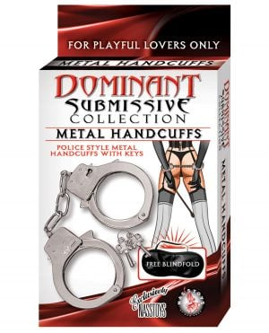 Dominant Submissive Metal Handcuffs - Metal