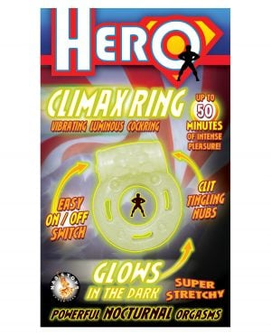 Hero Climax Ring Cock Ring - Glow in the Dark
