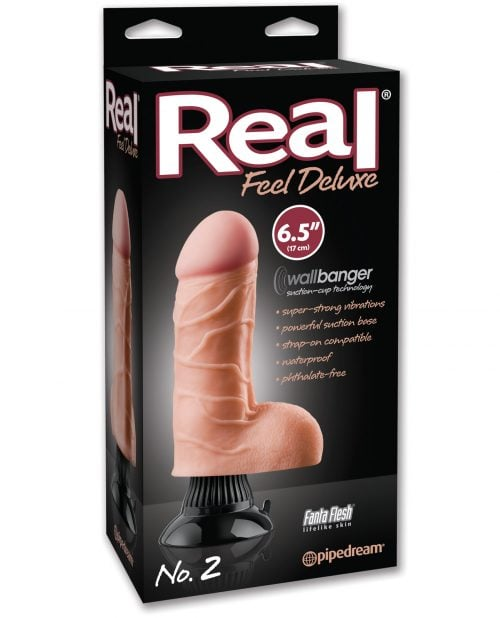 "Real Feel Deluxe No. 2  6.5"" Vibe Waterproof - Flesh"