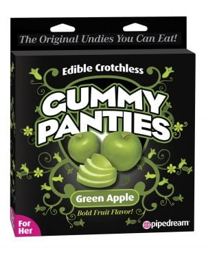 Edible Crotchless Gummy Panty - Apple