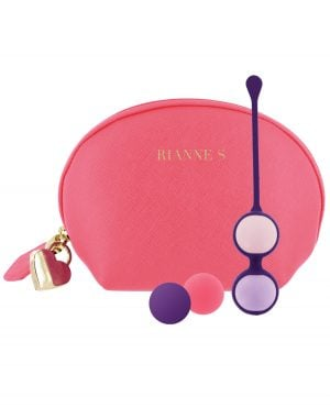 Rianne S Pussy Playballs w/Cosmetic Case - Coral Rose