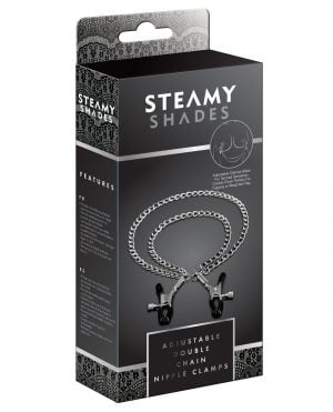 Steamy Shades Adjustable Double Chain Nipple Clamps