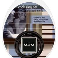 M2M Nitrile Cock Ring – Pack of 3 Black