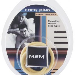 M2M Nitrile Cock Ring – Pack of 3 Nude