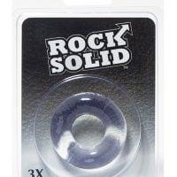 """Rock Solid 3"""" Clear Donut Ring"""