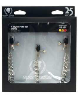 Spartacus Y-Style Broad Tip Nipple Clamps & Clit Clamp
