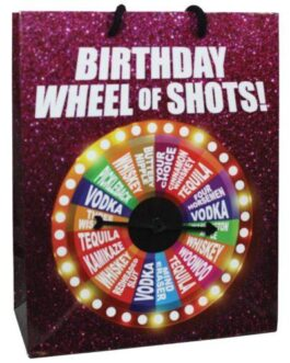 Birthday Wheel of Shots….Spinner Gift Bag