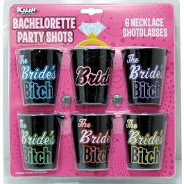 Bachelorette Party Shots The Bride's Bitches – Pack of 6