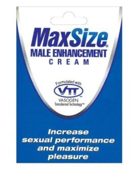 Max Size Male Enhancement Cream – Individual Foil Packet