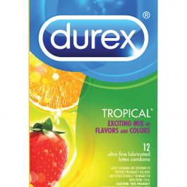 Durex Tropical Color & Scents Condoms  – Box of 12