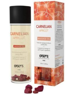 EXSENS of Paris Organic Massage Oil w/Stones – Carnelian Apricot