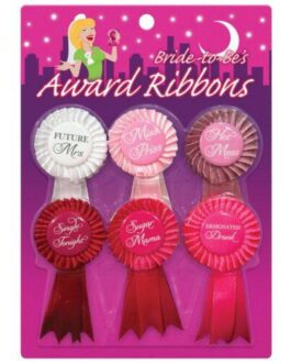Bride to Be's Award Ribbons – Pack of 6