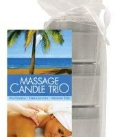 Earthly Body Massage Candle Trio Gift Bag – 2 oz Skinny Dip, Dreamsicle, & Guavalva