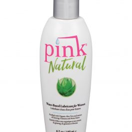 Pink Natural Water Based Lubricant for Women – 4.7 oz