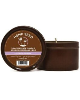 Earthly Body Suntouched Hemp Candle – 6.8 oz Round Tin Lavender