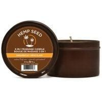 Earthly Body Suntouched Hemp Candle – 6.8 oz Round Tin Dreamsicle