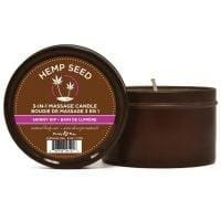 Earthly Body Suntouched Hemp Candle – 6.8 oz Round Tin Skinny Dip