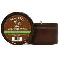 Earthly Body Suntouched Hemp Candle – 6.8 oz Round Tin Naked in the Woods