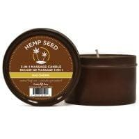 Earthly Body Suntouched Hemp Candle – 6.8 oz Round Tin Nag Champa