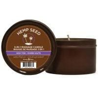 Earthly Body Suntouched Hemp Candle – 6.8 oz Round Tin High Tide