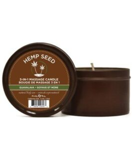 Earthly Body Suntouched Hemp Candle – 6.8 oz Round Tin Guavalava