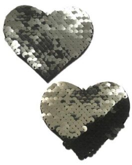 Pastease Color Changing Flip Sequins Heart – Slate/Black O/S