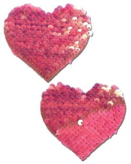 Pastease Color Changing Flip Sequins Heart – Pink O/S