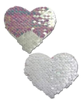 Pastease Color Changing Flip Sequins Heart – Pearl/White O/S
