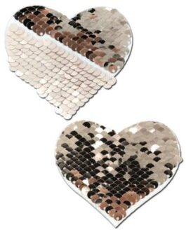 Pastease Color Changing Flip Sequins Heart – Rose Gold O/S