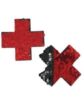 Pastease Color Changing Flip Sequins Cross – Red/Black O/S