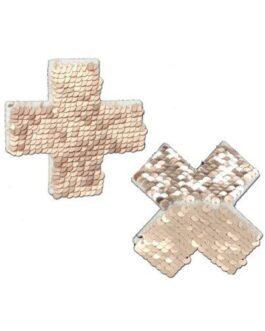 Pastease Color Changing Flip Sequins Cross – Rose Gold O/S