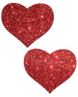 Pastease Glitter Heart –  Red O/S